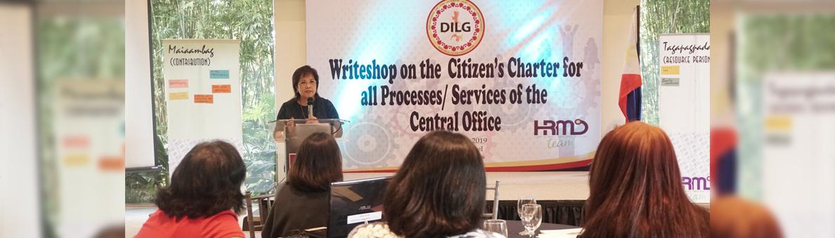 Writeshop  on Citizen's Charter