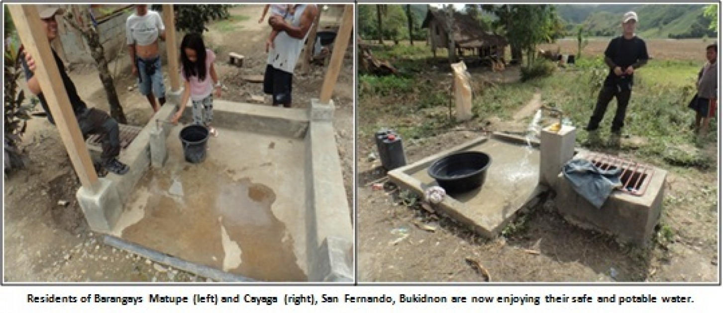 Water Projects in Bukidnon under the GPBP completed and operational